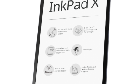 PocketBook Inkpad X metallic gray  + 1100 ebooków GRATIS!