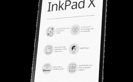 PocketBook Inkpad X metallic gray  + 1100 ebooków GRATIS!